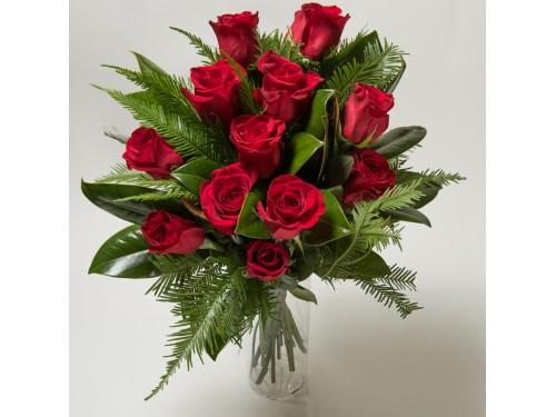 Classic Premium Quality Dozen Red Roses